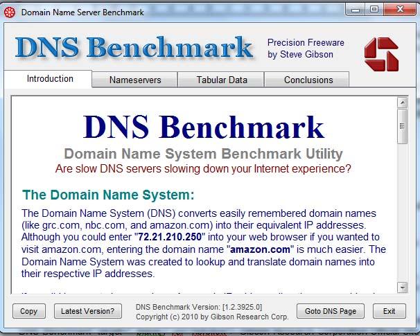 DNS Server BenchmarkTest