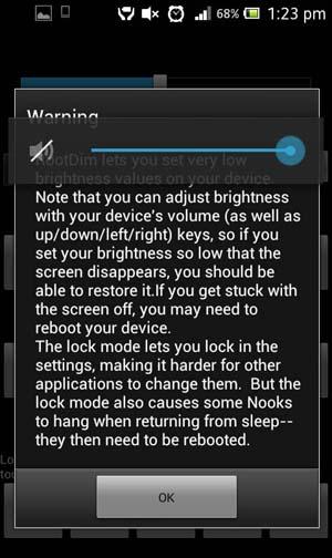 RootDim custom brightness and nightmode for Android Phones