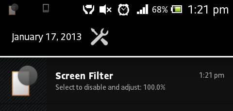Screen Filter custom brightness filter for Android Phones