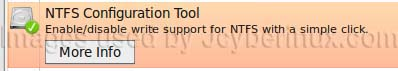 NTFS Configuration Tool to Enable write support in Ubuntu
