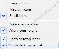 How to Show or Hide the Desktop Icons and Desktop Gadgets on Windows 7