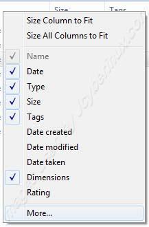 Change Folder Views and Details on Windows 7