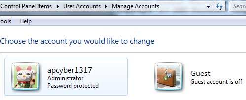 Disable/Hide Administrator Account on Windows 7/Vista Logon
