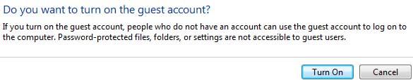 Enable/Unhide Guest Account on Windows 7/Vista Logon