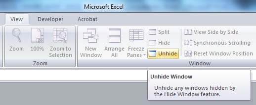 MS Excel file doesn't show the spreadsheet