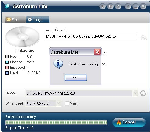 How to Burn a Disc Image File to CD or DVD using Astroburn Lite by Jcyberinux