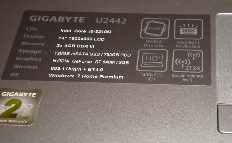 Gigabyte - Notebook U Series – U2442 - Photos by Jcyberinux.com