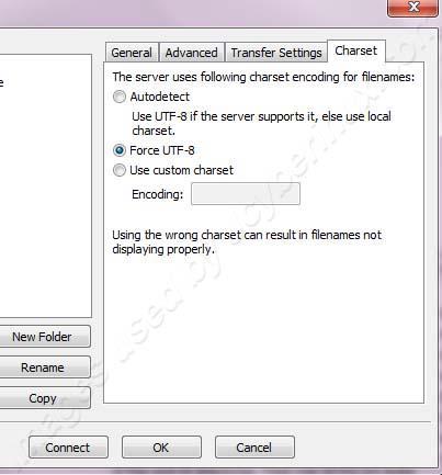 FileZilla cannot display, download, or rename the garble filenames