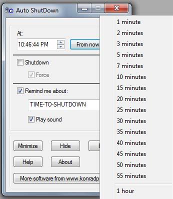 Konradp - Windows Auto Shutdown Software
