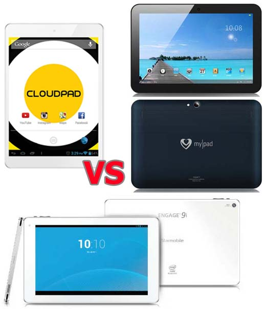 MyPad 3 vs CloudPad 800w vs Engage 9i