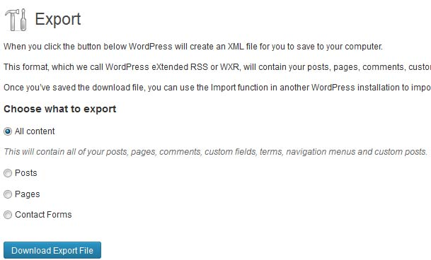 Backup WordPress database and files